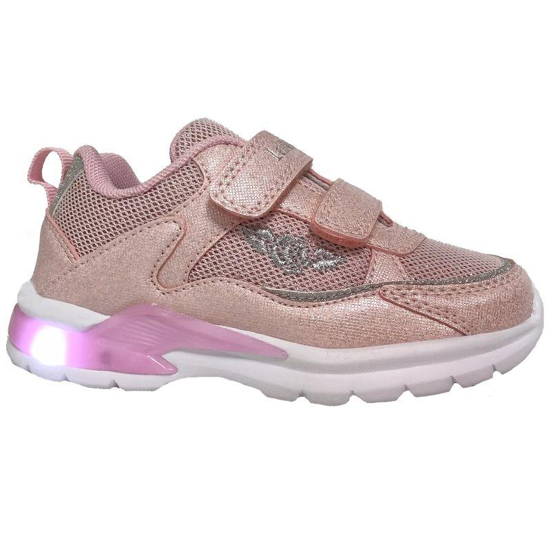 Lelli Kelly LK1859 (AC61) Margot Rosa Shimmer Light Up Adjustable Trainer Shoes