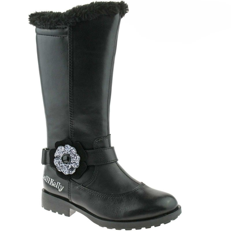 Lelli Kelly LK8596 (CB01) Sophia Nero Pelle Boots