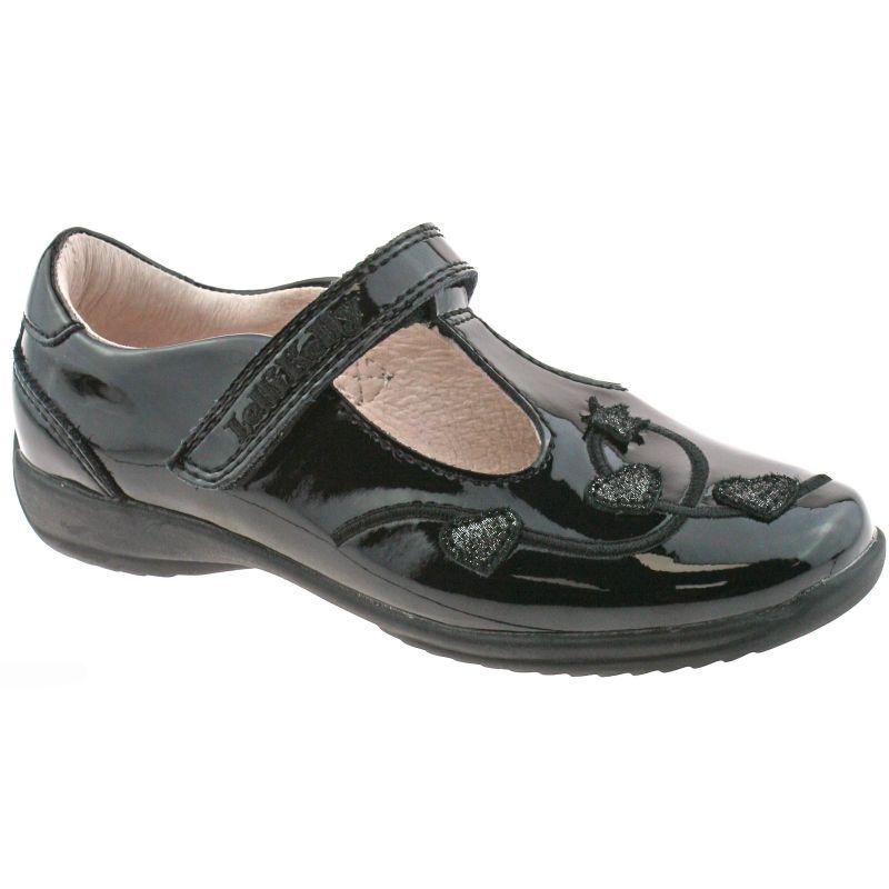 Lelli Kelly LK8250 (DB01) Chloe Black Patent T-Bar School Shoes F Width