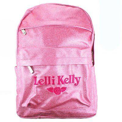 Lelli Kelly LK8297 (AN01) Pink Sparkly Glitter School Rucksack Backpack Bag