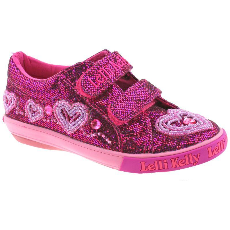 Lelli Kelly LK3019 (GW01) Purple Glitter Ava Adjustable Shoes