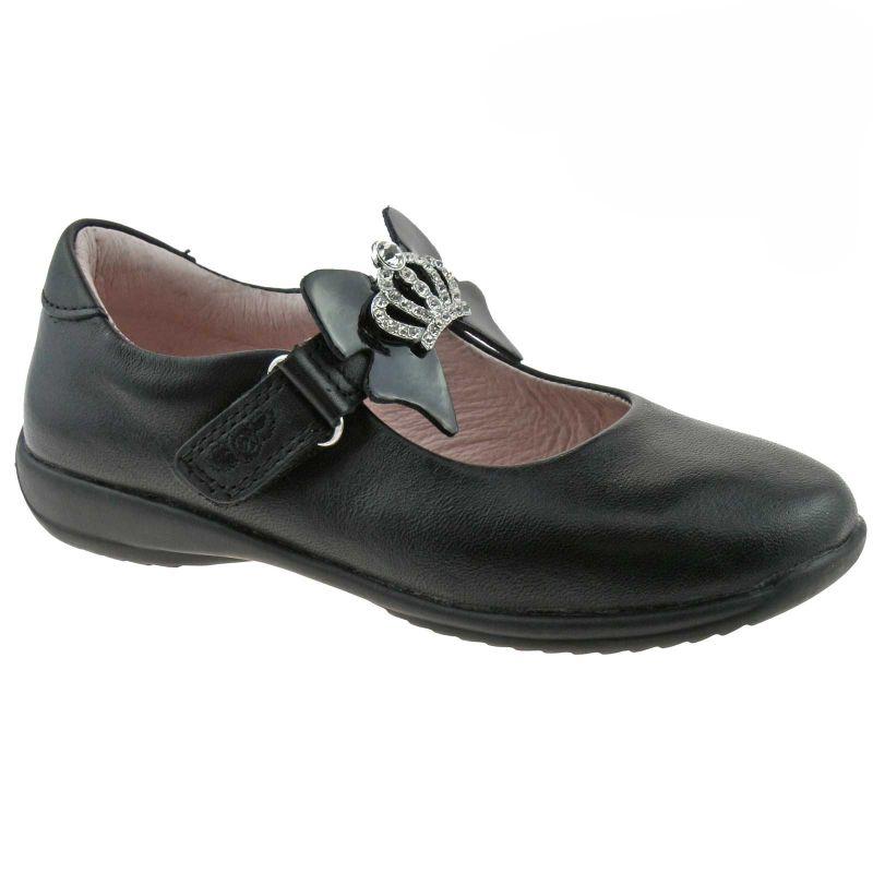 Lelli Kelly LK8308 (CB01) Black Leather Sophia School Shoes F Fitting