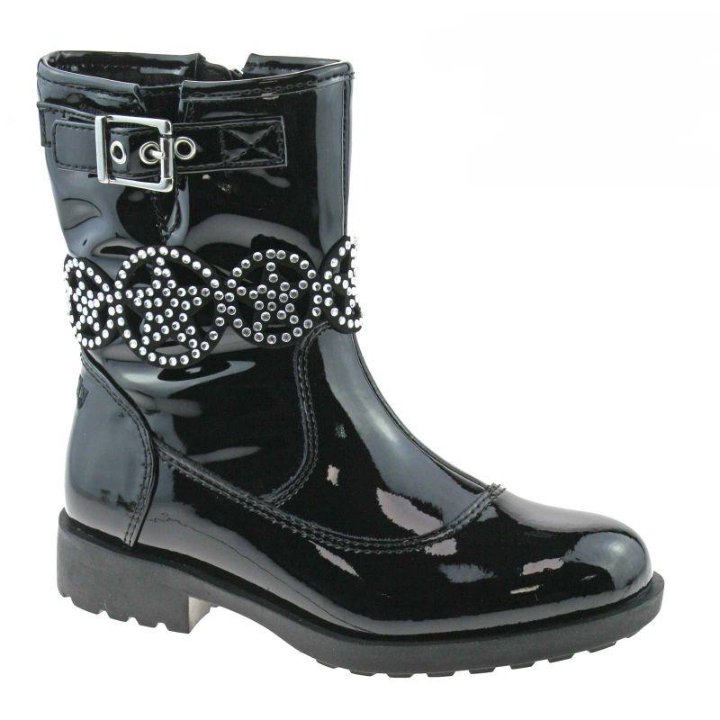Lelli Kelly LK3692 (DB01) Ann Mid Nero Vernice Ankle Boots