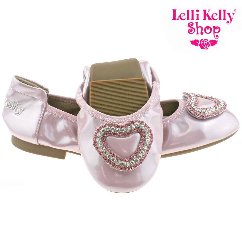 Lelli Kelly LK4108 (AG52) Golden Rose Patent Heart Magiche Shoes