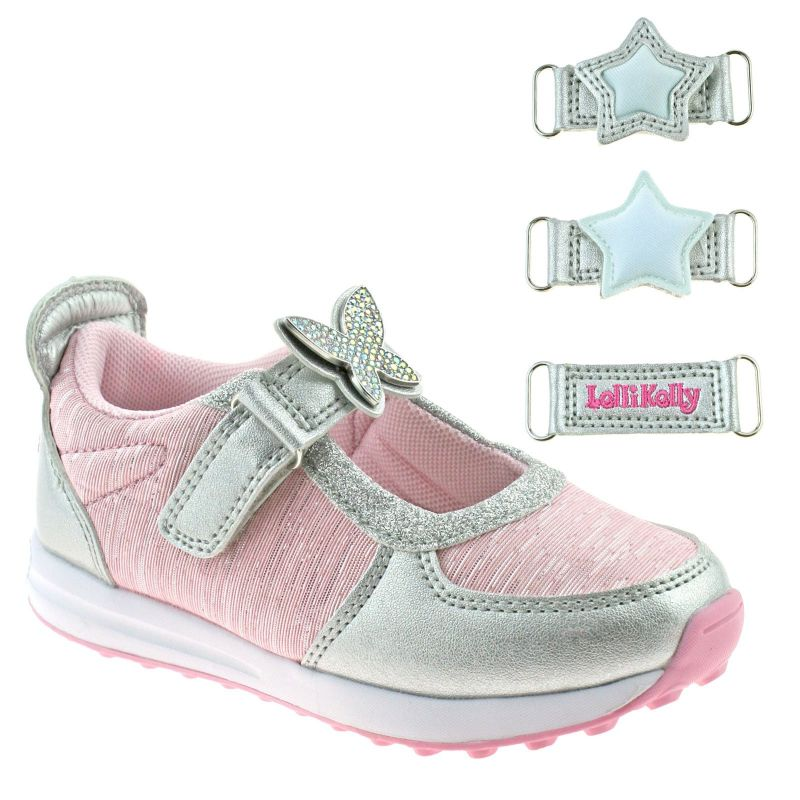 Lelli Kelly LK7855 (YC52) Colorissima Argento/Rosa Dolly Trainer Shoes
