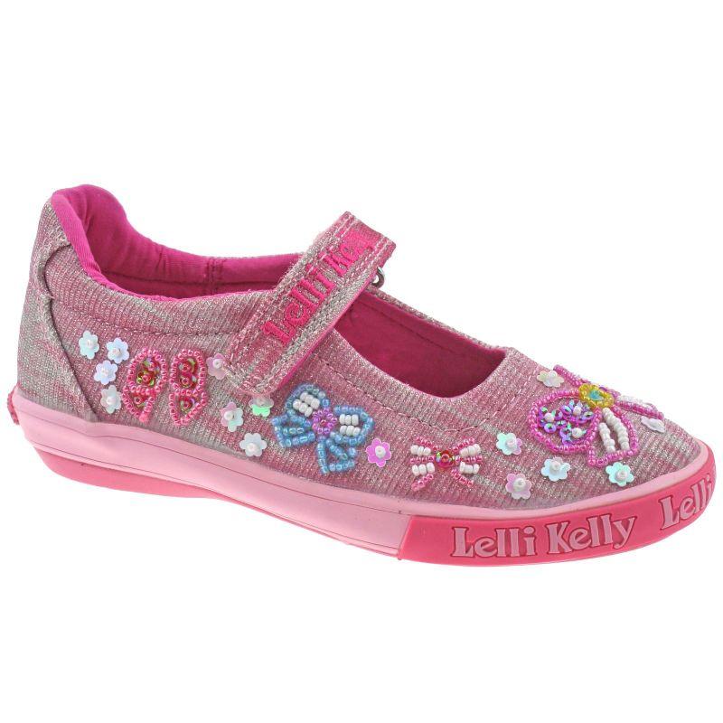 Lelli Kelly LK5066 (RXG2) Bright Multi Shining Bow Dolly Shoes