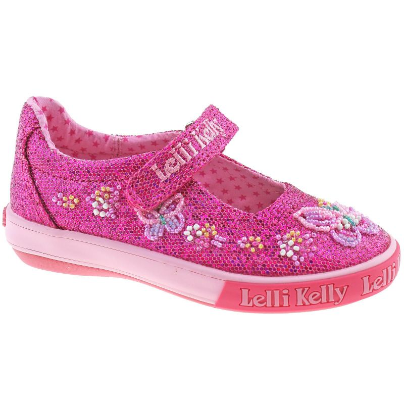 Lelli Kelly LK6042 (GN01) Fuxia Glitter Willa Dolly Shoes