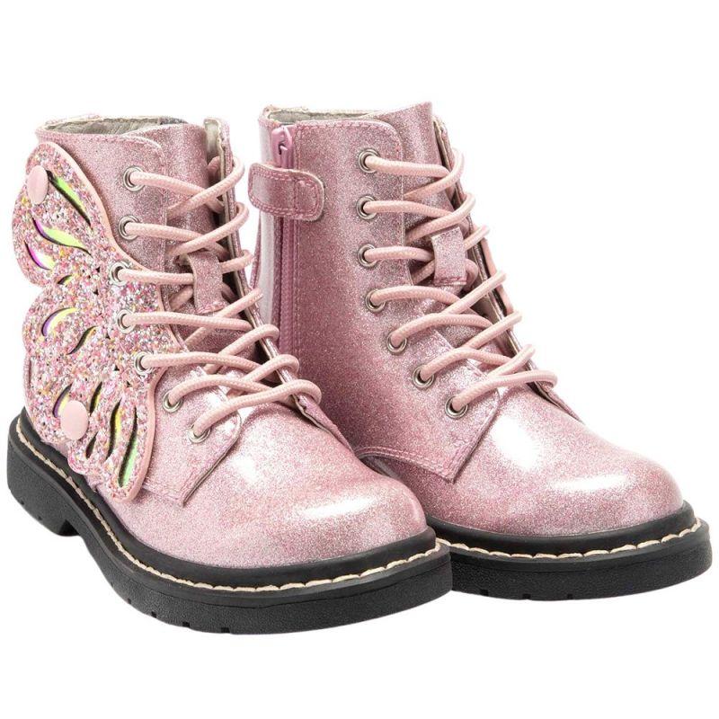 Lelli Kelly LK5544 (SC01) Ali Di Fata Rosa Glitter Wings Ankle Boots