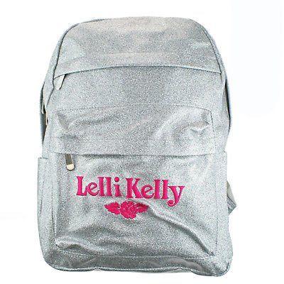 Lelli Kelly LK8297 (AH01) Silver Sparkly Glitter School Rucksack Backpack Bag