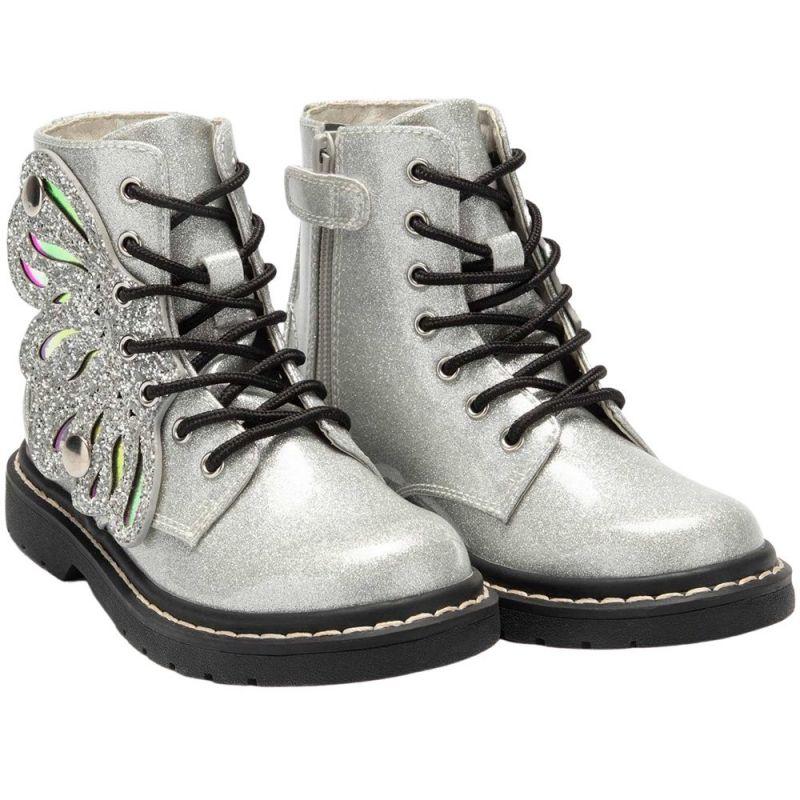 Lelli Kelly LK5544 (SH01) Ali Di Fata Argento Glitter Wings Ankle Boots