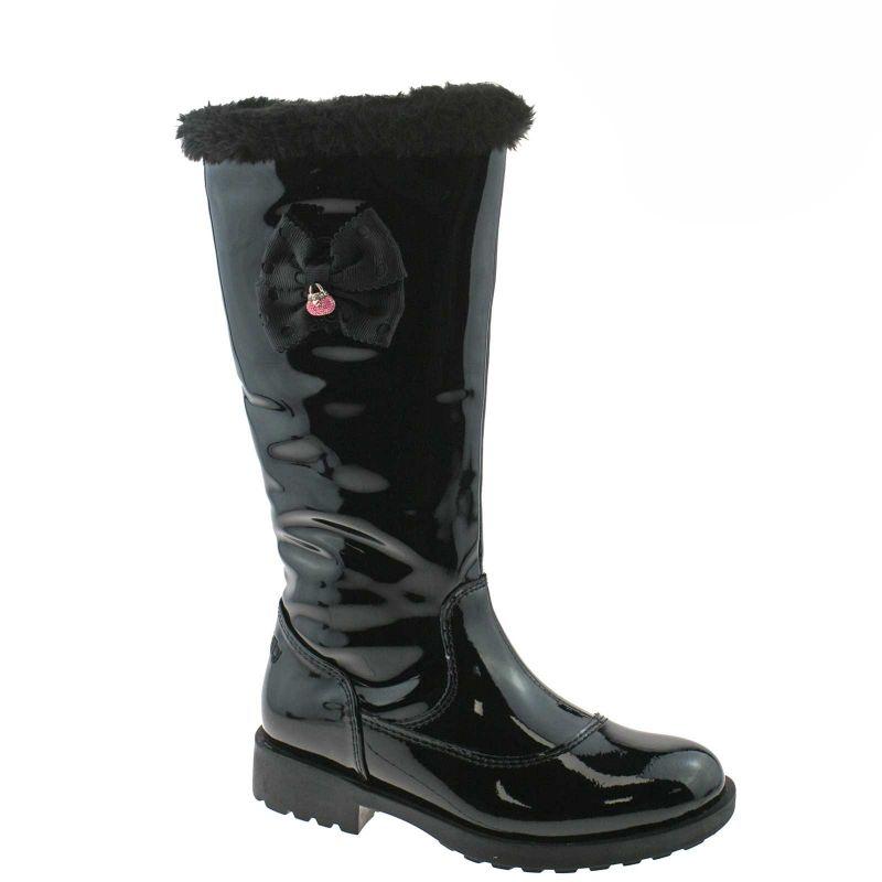 Lelli Kelly LK3698 (DB01) Frances Nero Vernice Fur Lined Boots