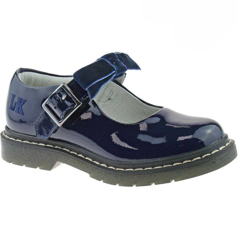 Lelli Kelly LK8286 (DE01) Frankie SNR Navy Patent School Shoes F Fitting