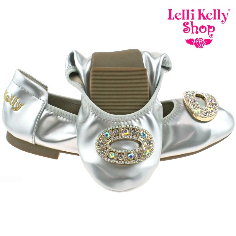 Lelli Kelly LK4106 (AH01) Argento Patent Magiche Shoes