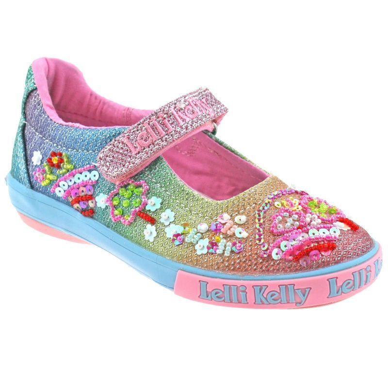 Lelli Kelly LK5068 (GX02) Multi Glitter Rainbow Tillie Dolly Shoes