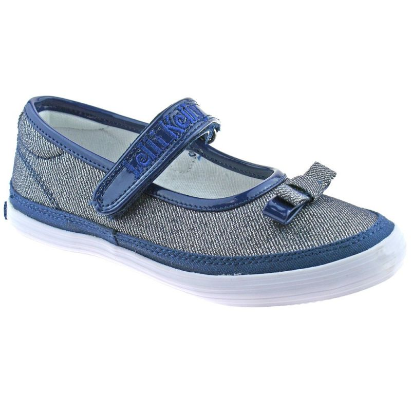 Lelli Kelly LK5300 (BE01) New Sprint Blue/Silver Shimmer Canvas Shoes