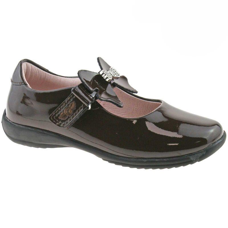 Lelli Kelly LK8300 (DJ01) Brown Patent Charlotte School Shoes F Fitting