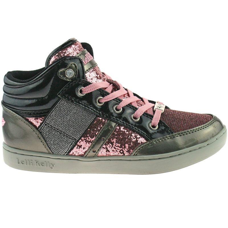 Lelli Kelly LK6920 (FT52) Peltro & Rosa Vernice Light Up California Glitter Boots