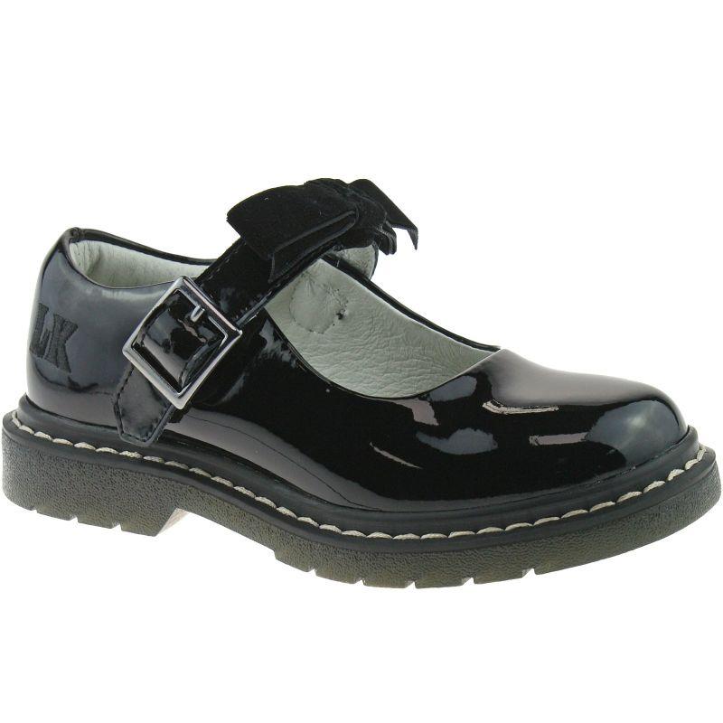 Lelli Kelly LK8286 (DB01) Frankie Black Patent School Shoes F Fitting-30 (UK 12)