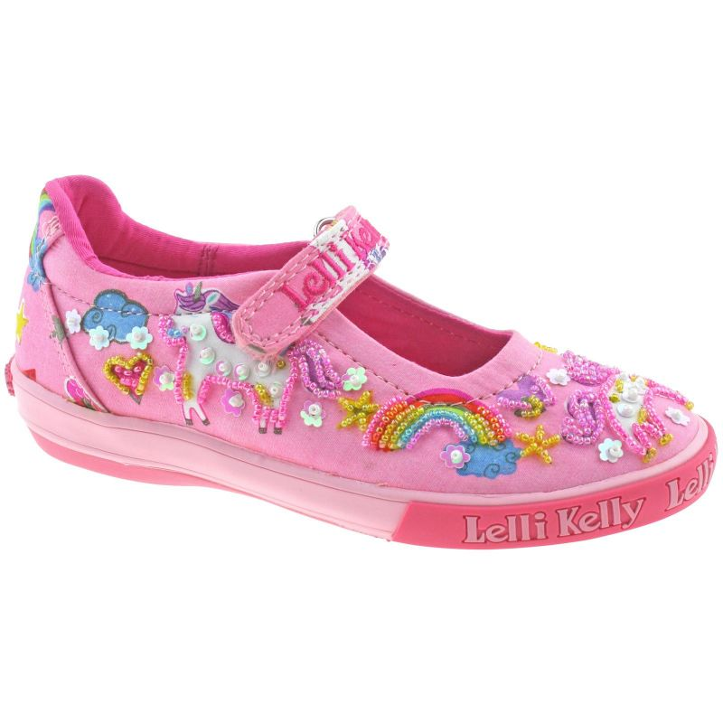 Lelli Kelly LK9050 (BC02) Pink Fantasy Unicorn Dolly Shoes