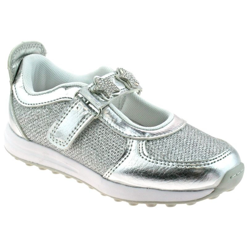 Lelli Kelly LK7856 (HH01) Metallic Argento Colorissima Dolly Trainer Shoes