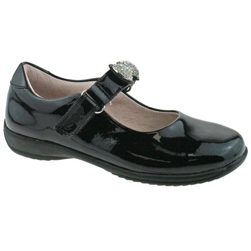 Lelli Kelly LK8334 (DB01) Mandy Black Patent School Shoes E Width