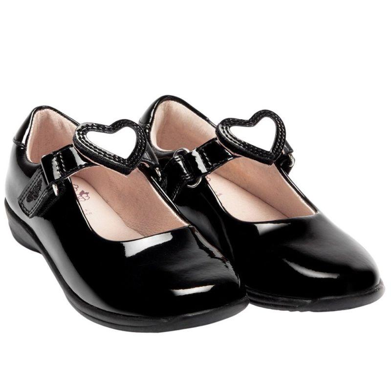 Lelli Kelly LK8400 (DB01) Colourissima Black Patent School Shoes F Fitting