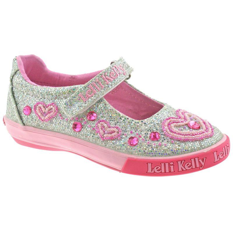 Lelli Kelly LK3020 (GH01) Silver Glitter Ava Dolly Shoes
