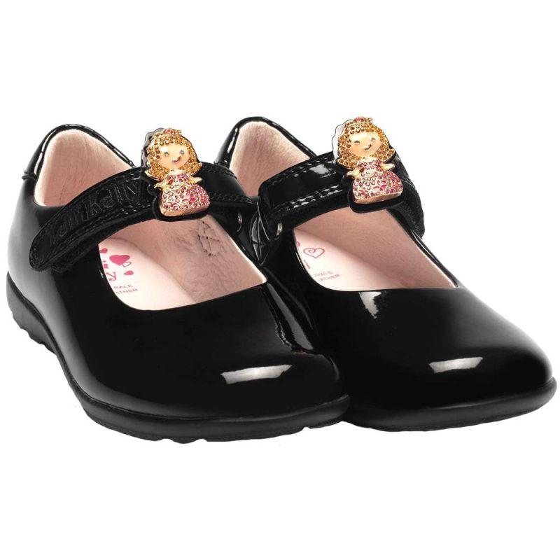 Lelli Kelly LK8225 (DB01) Prinny 2 Black Patent School Shoes E Fit (Numeric_11)