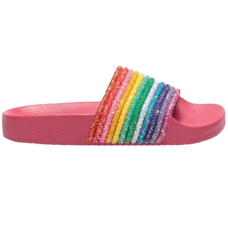 Lelli Kelly LK1902 (AN01) Iris Fuxia Rainbow Slider Sandals