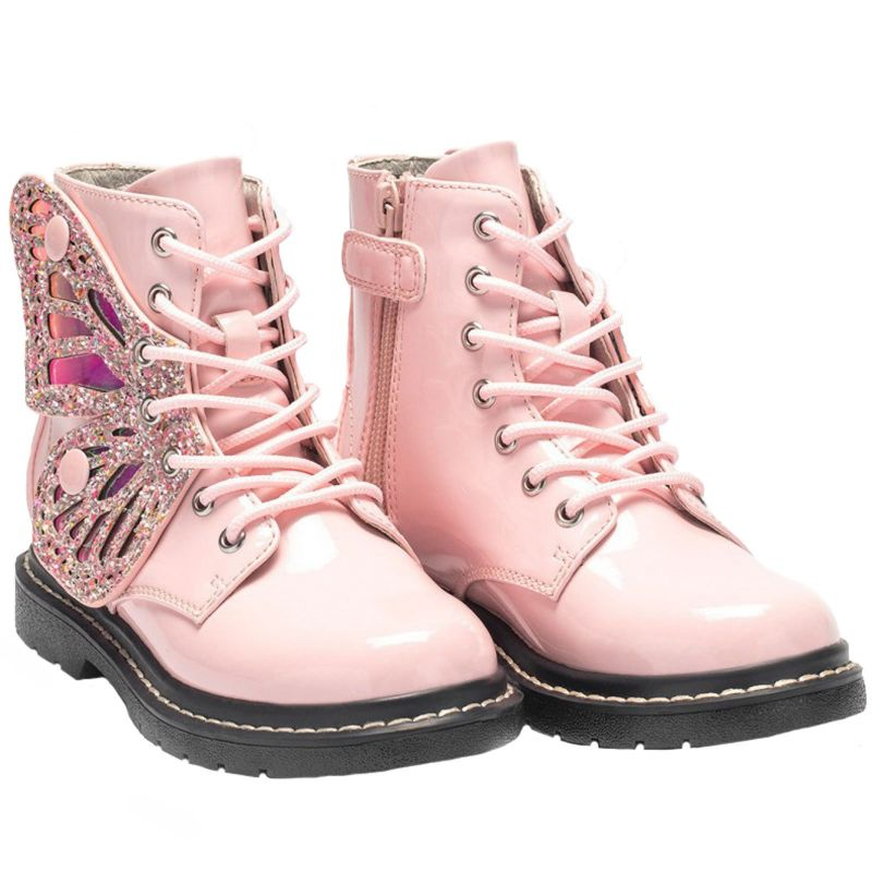 Lelli Kelly LK6540 (FC01) Ali Di Fata Vernice Rosa Wings Ankle Boots