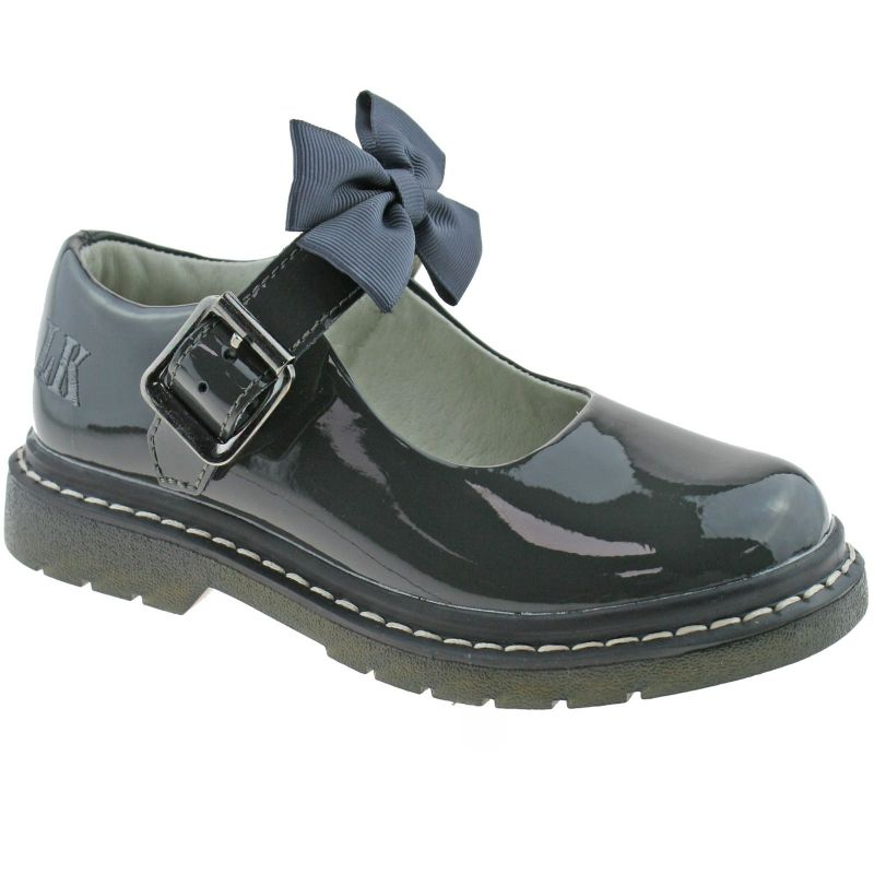Lelli Kelly LK8360 (DR01) Audrey Grey Patent School Shoes F Fitting