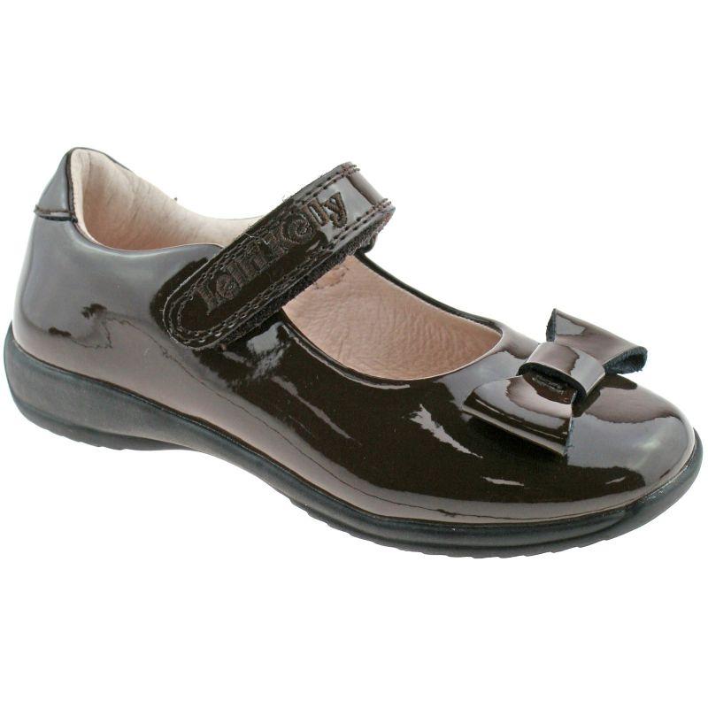 Lelli Kelly LK8206 (DJ01) Perrie Brown Patent School Shoes F Width