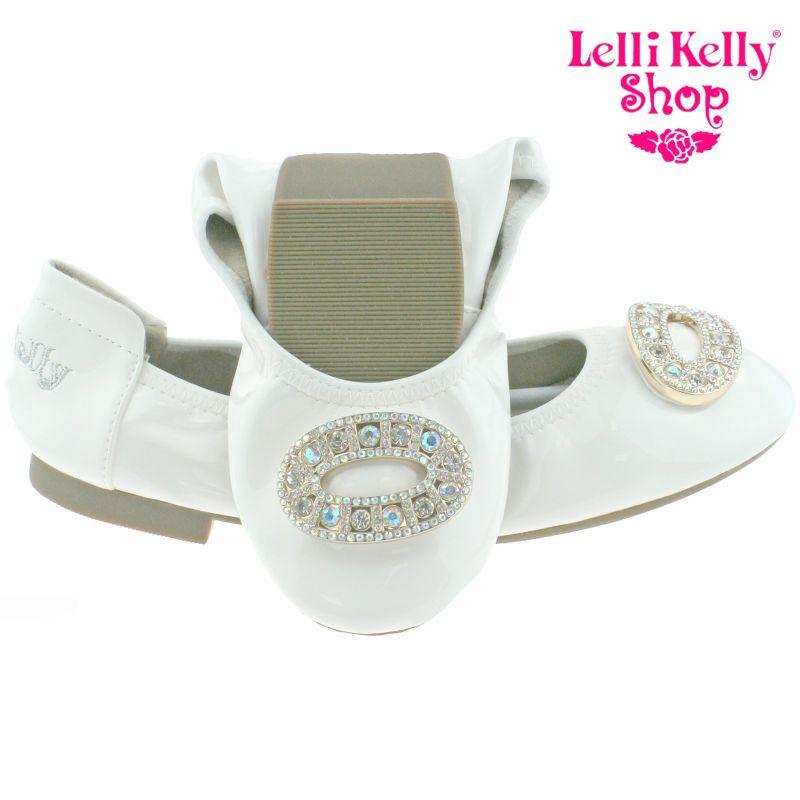 Lelli Kelly LK4106 (AA01) Bianco Patent Magiche Shoes