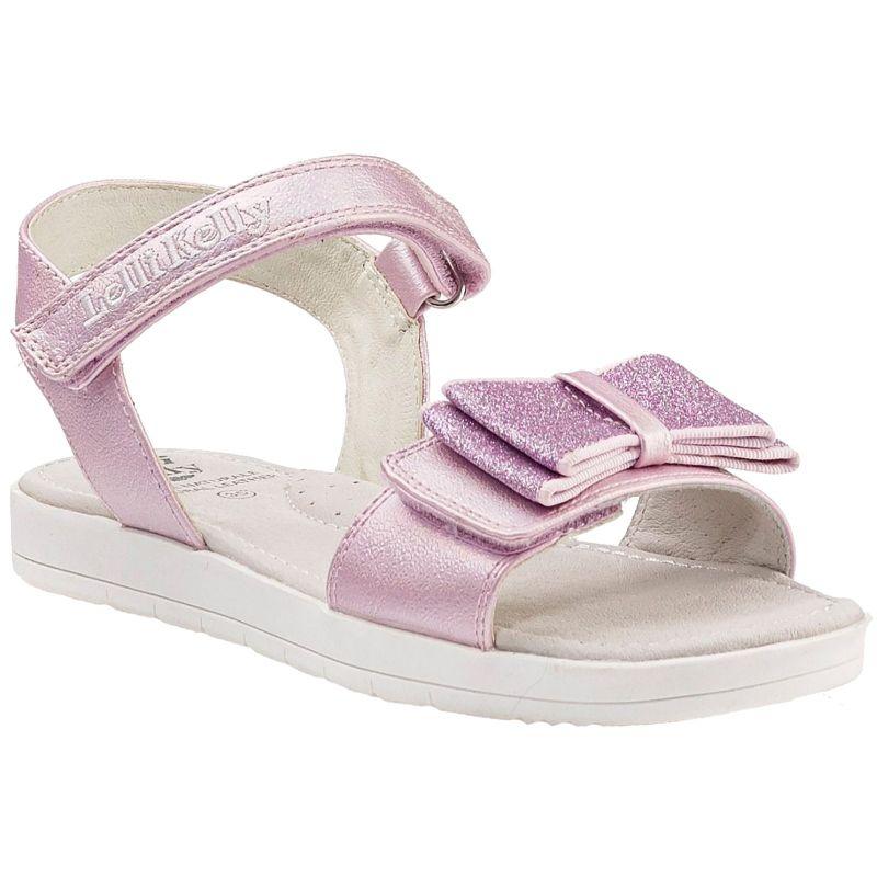 Lelli Kelly LK1520 (YC01) Elsa Rosa Perlato Pink Bow Glitter Sandals