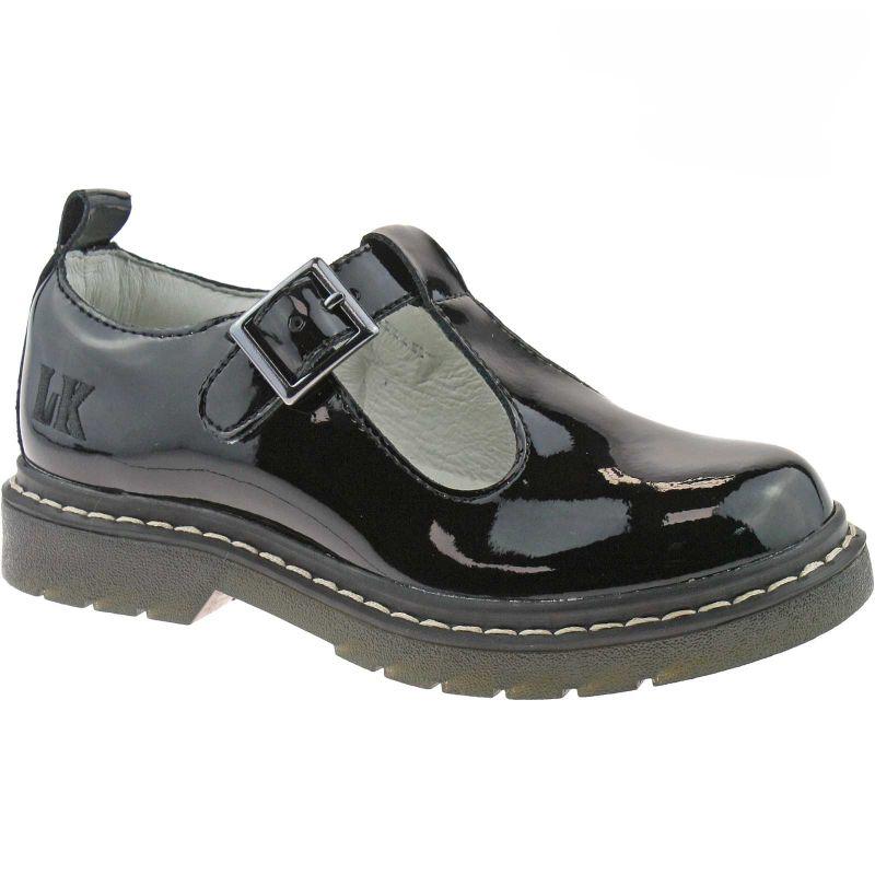 Lelli Kelly LK8288 (DB01) Frankie Black Patent T-Bar School Shoes F Width