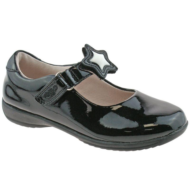 Lelli Kelly LK8640 (DB01) Colourissima Star Black Patent School Shoes G Fitting