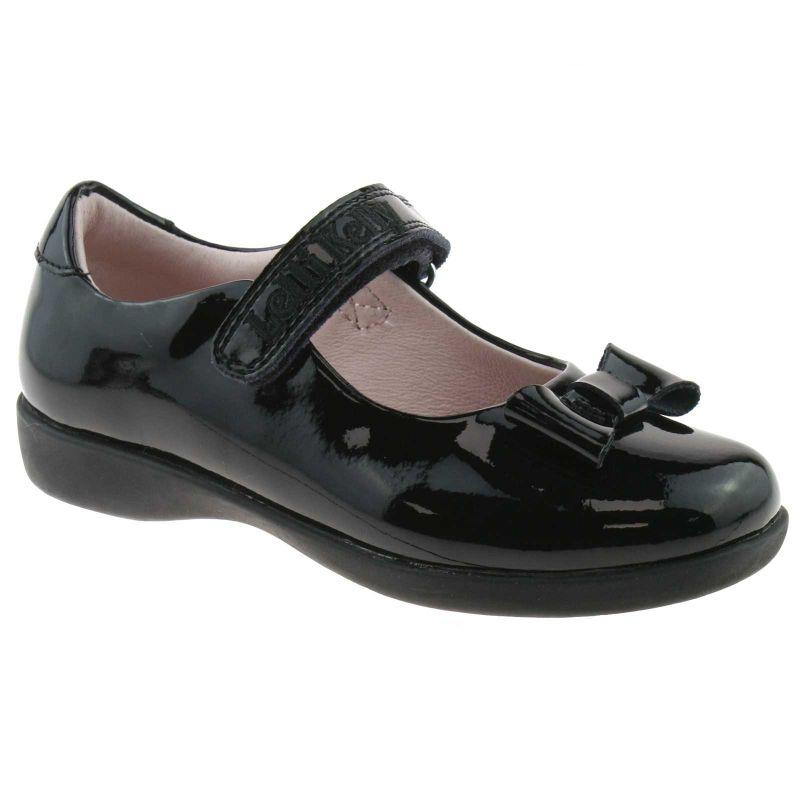 Lelli Kelly LK8206 (DB01) Perrie Black Patent School Shoes F Width