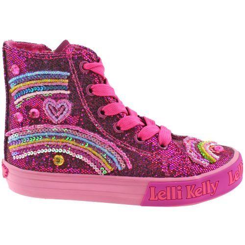 Lelli Kelly LK3042 (GW01) Purple Glitter Tillie Baseball Boots