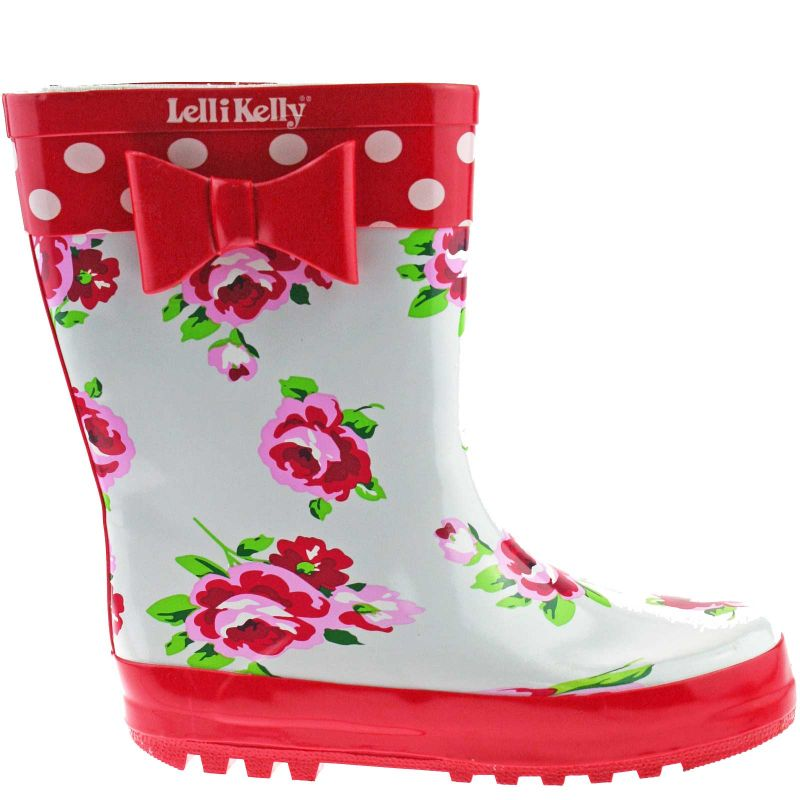 Lelli Kelly LK8850 (Rosso) White Floral Wellies