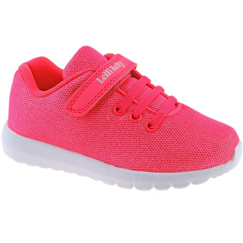 Lelli Kelly LK9876 (AN01) Glenda Neon Fuxia Shimmer Adjustable Trainer Shoes