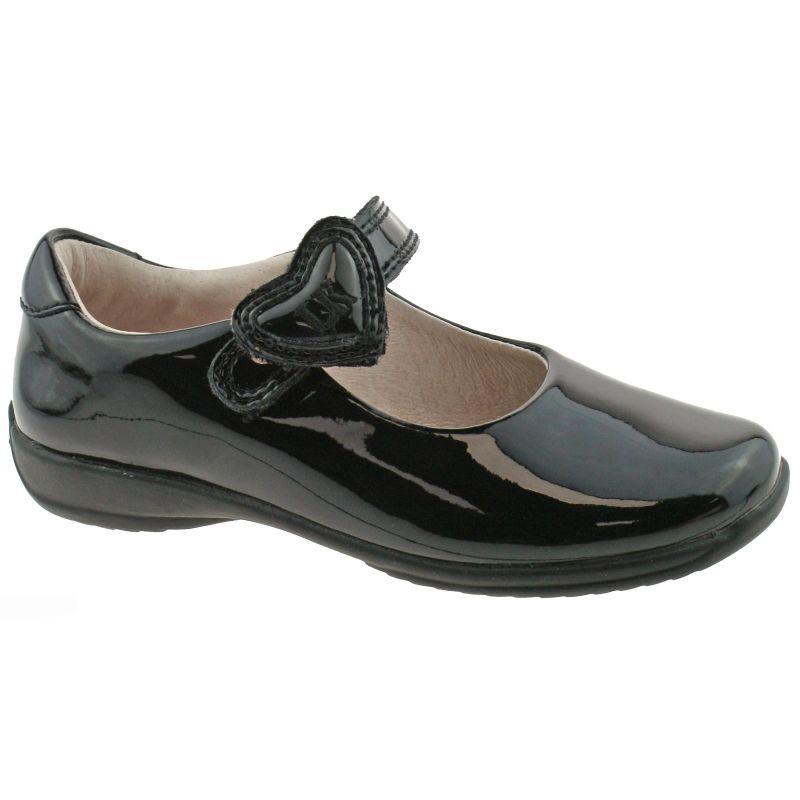 Lelli Kelly LK8500 (DB01) Colourissima Black Patent School Shoes F Fitting