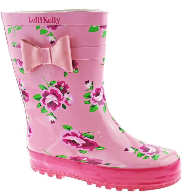 Lelli Kelly LK8850 (Rosa) Pink Floral Wellies -30 (UK 12)