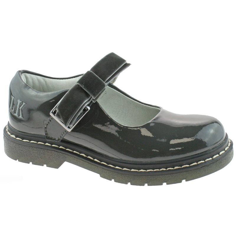 Lelli Kelly LK8286 (DR01) Frankie Grey Patent School Shoes F Fitting