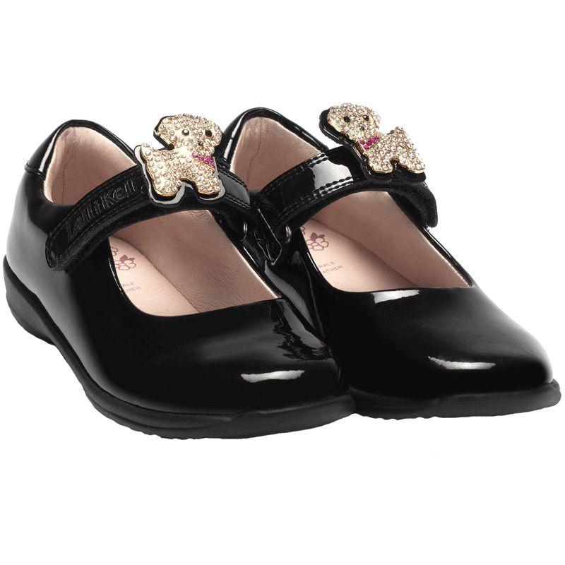 Lelli Kelly LK8217 (DB01) Poppy 2 Black Patent School Shoes F Fit