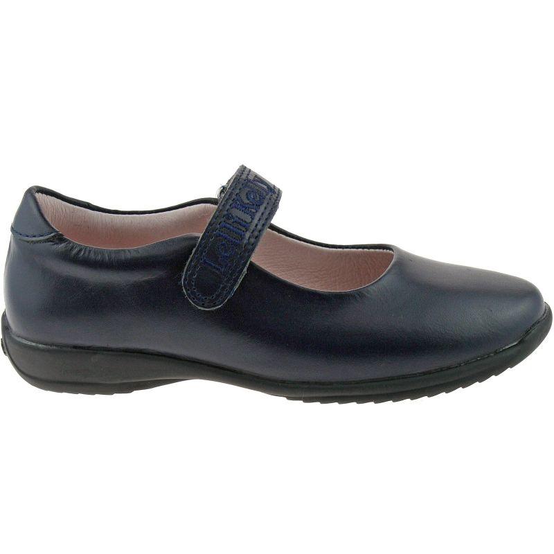 Lelli Kelly LK8218 (CE01) Navy Blue Leather Classic School Dolly Shoes F Width
