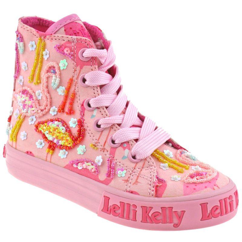 Lelli Kelly LK5090 (BC02) Pink Fantasy Flamingo Canvas Baseball Boots