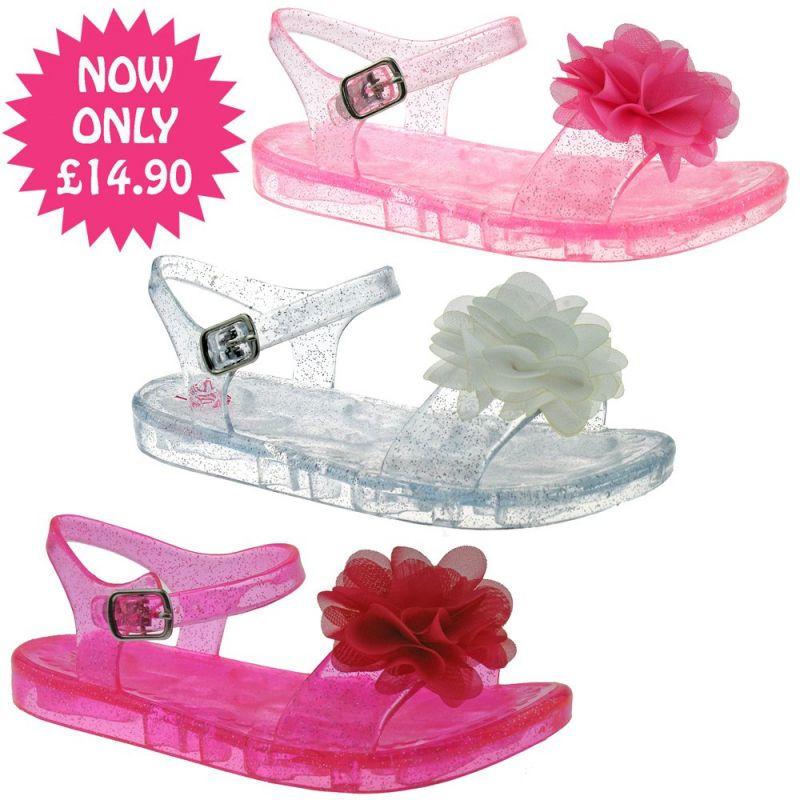 Lelli Kelly LK9944 (AC98) Transparent Pink Fiore Sandals