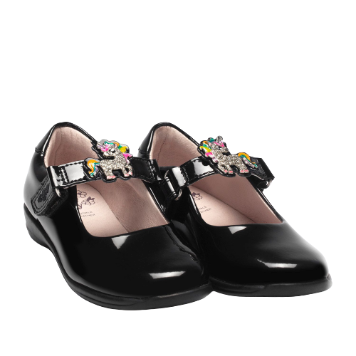 Lelli Kelly LK8321 (DB01) Bonnie Black Patent School Shoes E Fit