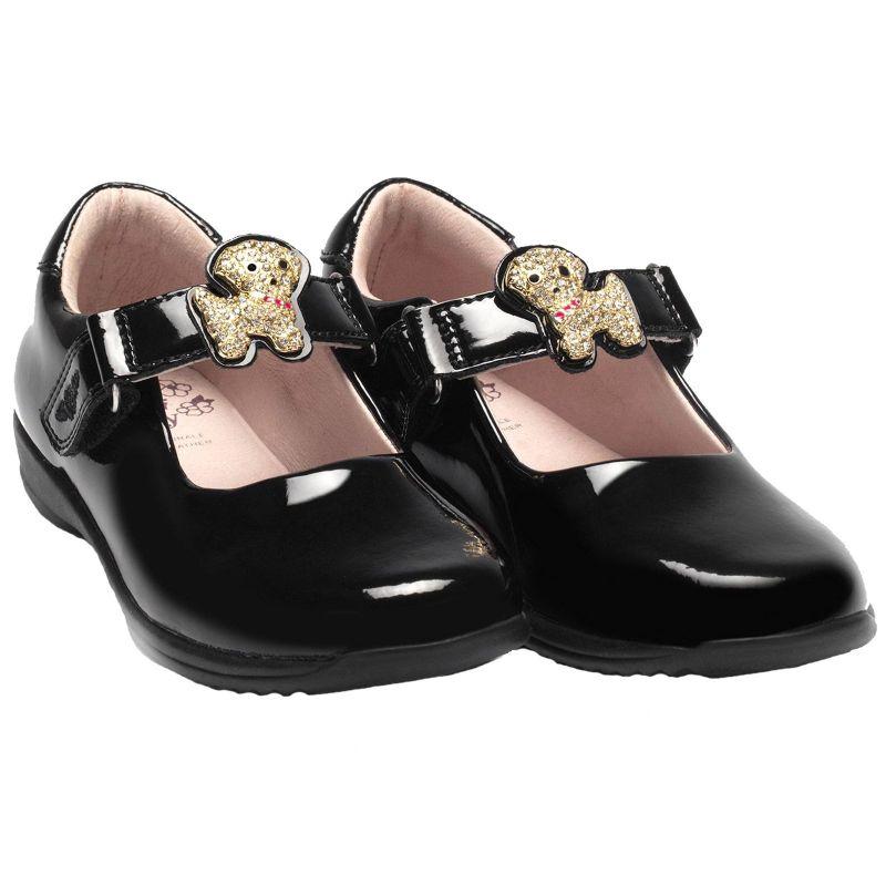 Lelli Kelly LK8327 (DB01) Poppy Black Patent School Shoes E Fit