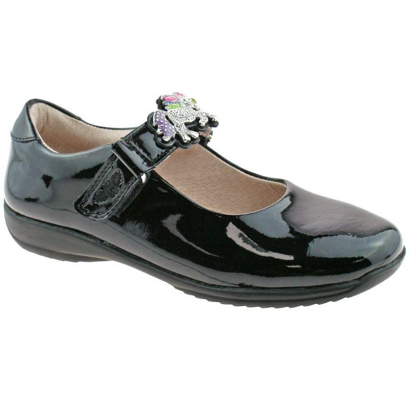 Lelli Kelly LK8332 (DB01) Blossom Black Patent Interchangeable School Shoes